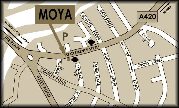 Map Depicting Location of Moya